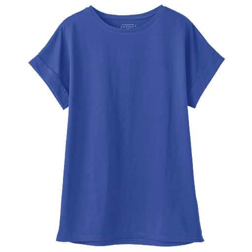 【レディース】 裾フレアTシャツ(綿100%・S-5L)