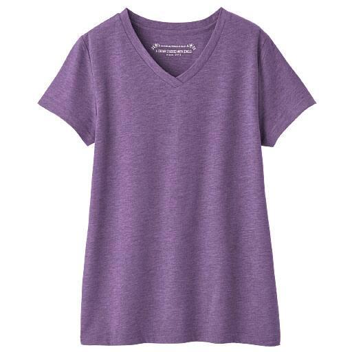 【レディース】 シンプルVネックTシャツ
