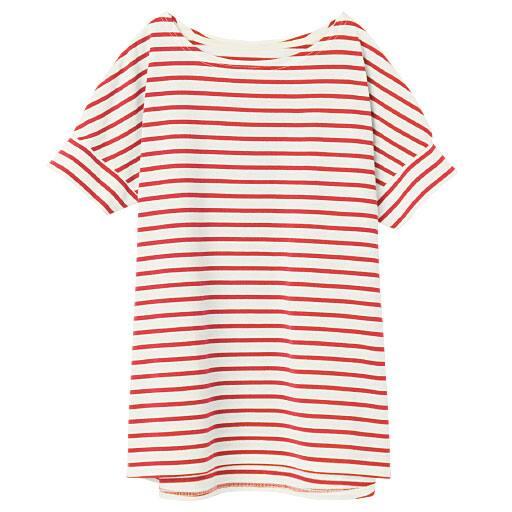 【レディース】 裾フレアドルマンボーダーTシャツ(S-5L) - セシール