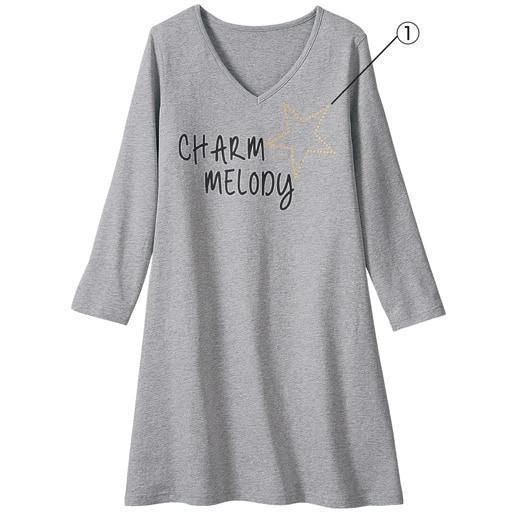 30%OFF【レディース大きいサイズ】 VネックTシャツ(7分袖)(綿100%)