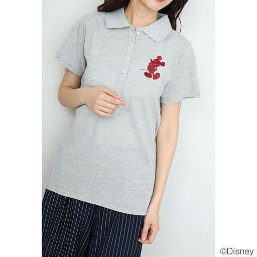 【レディース】 胸刺繍入りポロシャツ(ミッキーマウス) - セシール