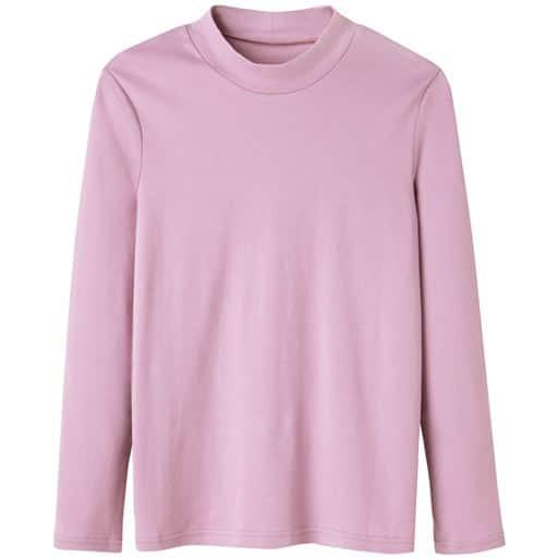 【レディース】 あったかシンプルハイネックTシャツ(S-5L・綿100%・蓄熱保温)