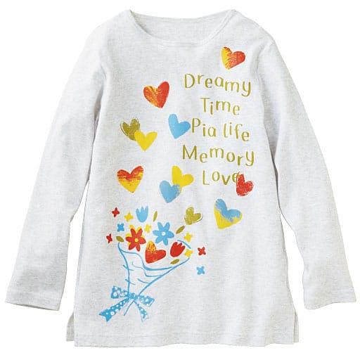 【レディース】 Tシャツ(セミロング丈・綿100%)
