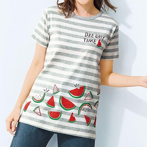 【レディース】 綿100%Tシャツ(セミロング丈)の通販