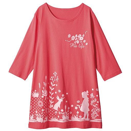 【レディース】 綿100%Tシャツ(チュニック丈)の通販