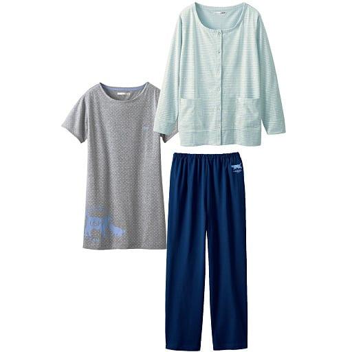 【SALE】 【レディース】 ハウスウェア(3点セット)(カーディガン+半袖Tシャツ+パンツ)