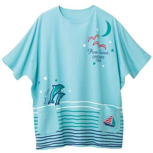 【レディース大きいサイズ】 スマートドライゆったりTシャツ(ルームウェア・吸汗・速乾・綿混)の通販