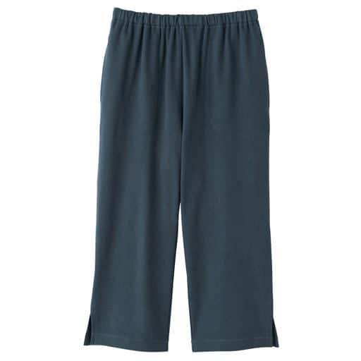 【レディース】 綿100%カプリパンツ(無地・膝下丈)