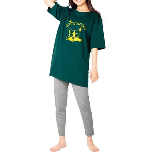 【ティーンズ】 5分袖BIGシルエットパジャマ