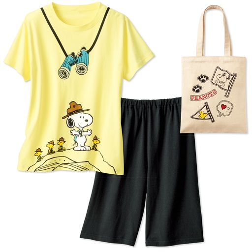 【ティーンズ】 トートバッグ付き!5柄から選べるTタイプパジャマ(スヌーピー)(綿100%)の通販
