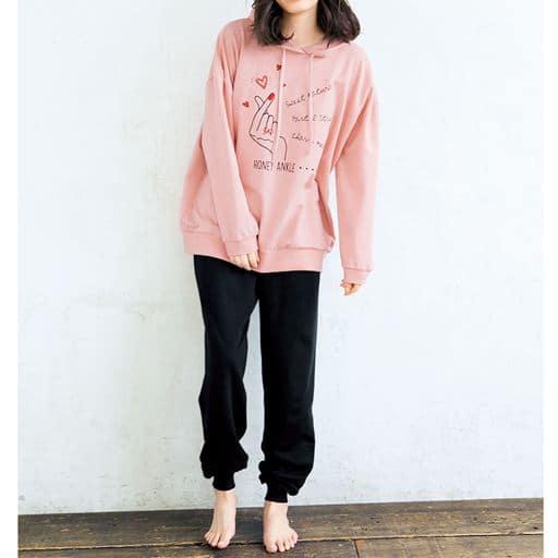 【ティーンズ】 ビッグパーカータイプパジャマ(綿100%)