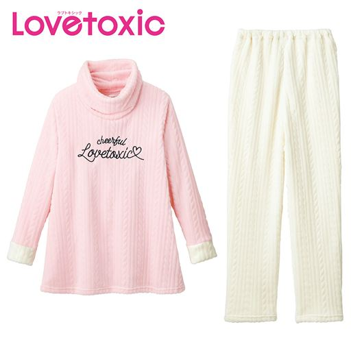 【ティーンズ】 あったかフリース♪オフタートルパジャマ(Lovetoxic) - セシール