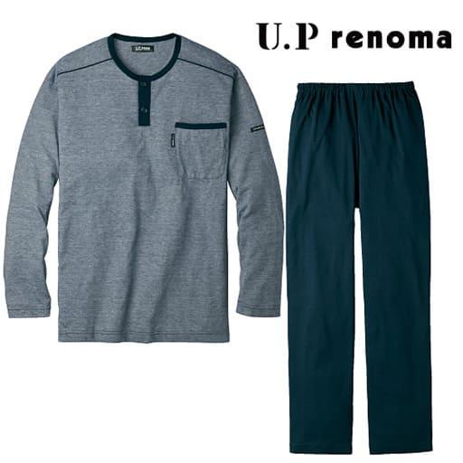 【レディース】 ヘンリーネックパジャマ・U.P renoma(男女兼用)
