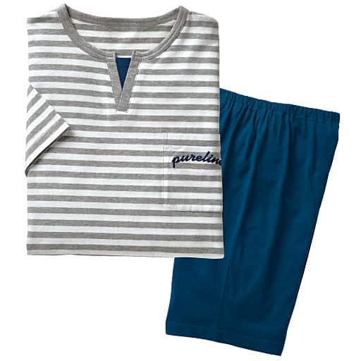 【レディース】 綿100%Tタイプパジャマ(男女兼用)
