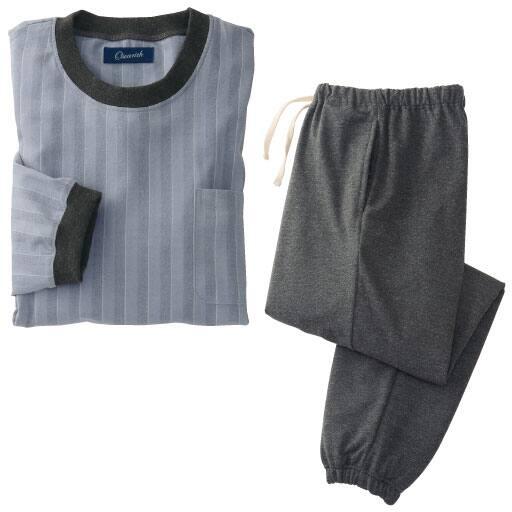【SALE】 【レディース】 起毛ツイルヘリンボーン柄ストレッチパジャマの通販