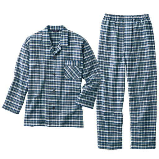 【SALE】 【メンズ】 日本製 先染めカルゼ起毛シャツパジャマ – セシール