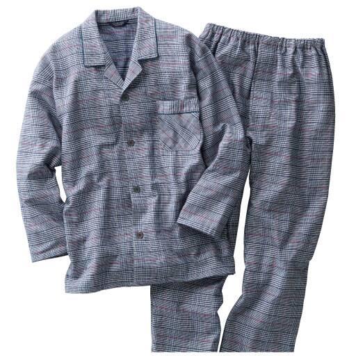 【SALE】 【メンズ】 日本製先染めツイル起毛グレンチェック柄パジャマ – セシール