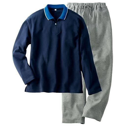 【レディース】 衿つきパジャマ(男女兼用) – セシール