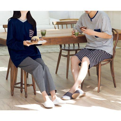 【レディース】 綿100%4点セットパジャマ(男女兼用)の通販