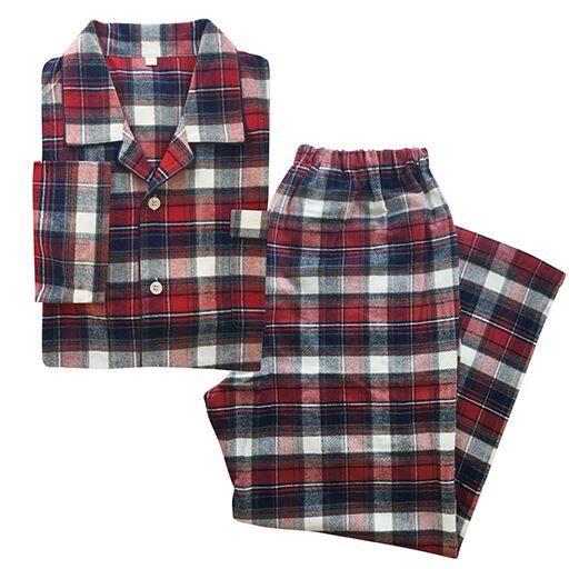 【メンズ】 メンズシャツパジャマ