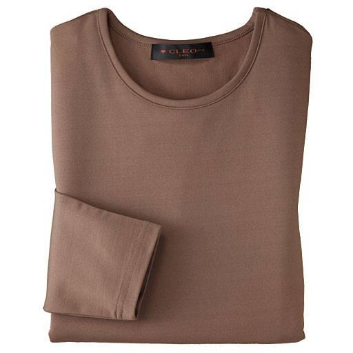 【レディース】 裏起毛八分袖Tシャツの通販