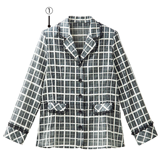 【SALE】 【レディース】 シルクコットンフリル使いジャケット