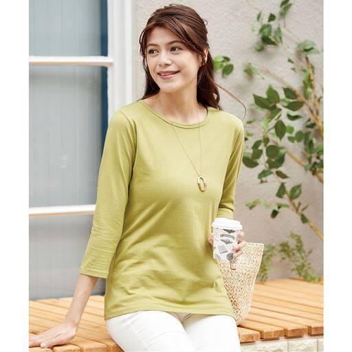 【レディース】 ベーシックな7分袖Tシャツの通販
