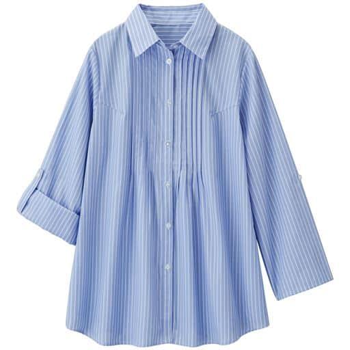 【レディース】 ピンタックストライプシャツ - セシール