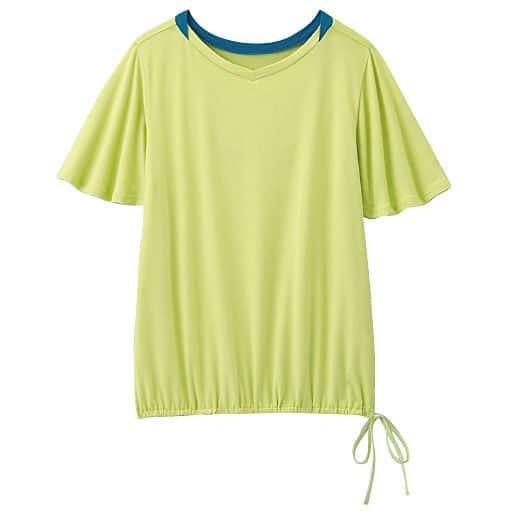 【レディース】 二の腕をカバーするフレア袖Tシャツの通販