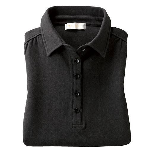 【レディース】 綿100%ギャザー使いポロシャツの通販