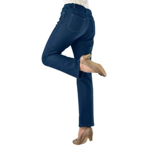 【レディース】 風が通りにくい暖かデニム風パンツの通販