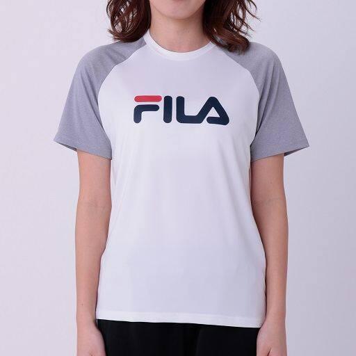 【レディース】 FILA吸汗速乾UVカットラグランTシャツの通販