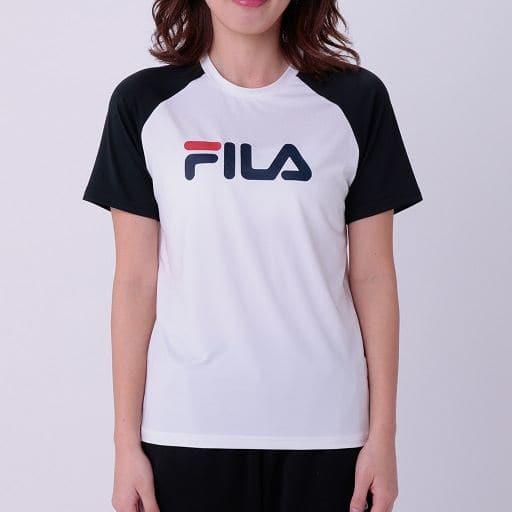 【レディース】 FILA吸汗速乾UVカットラグランTシャツ