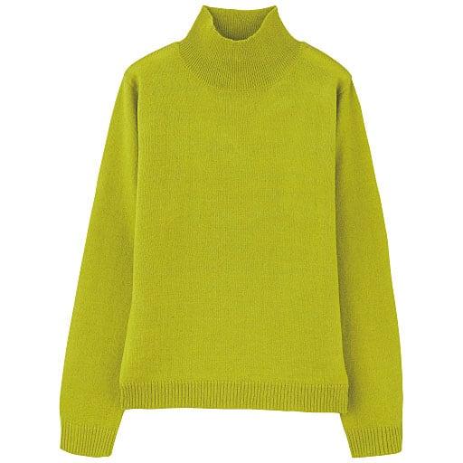 【レディース】 洗えるウール混ハイネックセーター – セシール