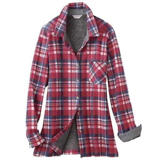 【レディース】 まるで毛布のような裏起毛ニットシャツ – セシール