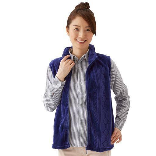 【レディース】 毛布でつくったふわふわベスト