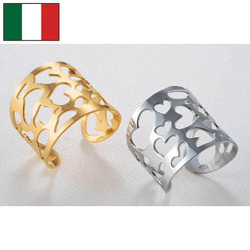 イタリア製ハートモチーフリング - セシール