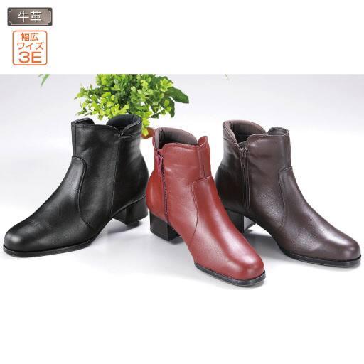 日本製ソフト牛革ブーツ – セシール