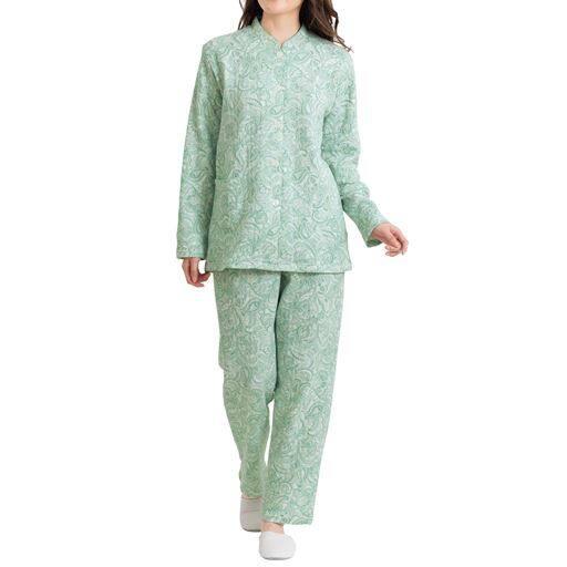 【レディース】 綿100%ふんわりニットキルトパジャマ