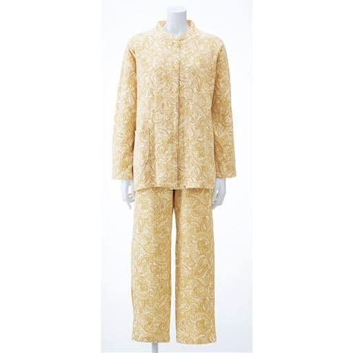 【レディース】 綿100%ふんわりニットキルトパジャマ(日本製) - セシール