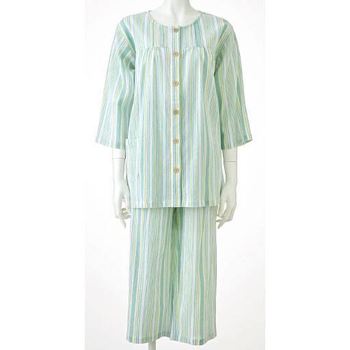【レディース】 綿100%パジャマ(爽やか楊柳素材)の通販