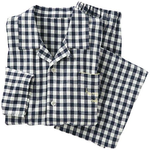 【レディース】 綿100%シャツパジャマ(男女兼用)