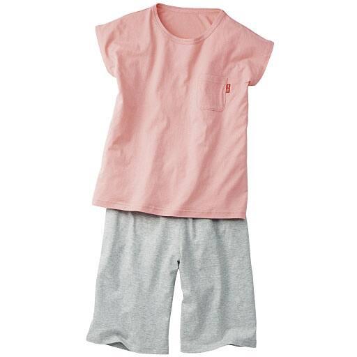 【SALE】 【レディース】 綿100%ルームウェア(フレンチ袖Tシャツ&ハーフパンツ)