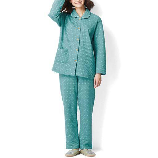 【SALE】 【レディース】 空気を含んだ柔らか中綿入り接結パジャマ(肌側綿100%) – セシール