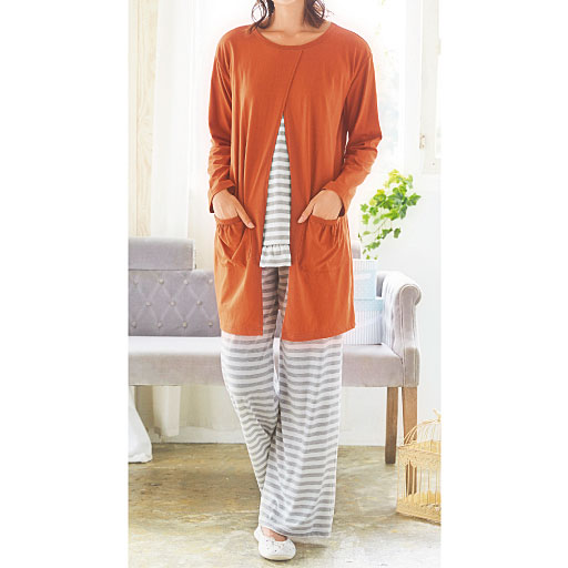【SALE】 【レディース】 カーディガン羽織風パジャマ
