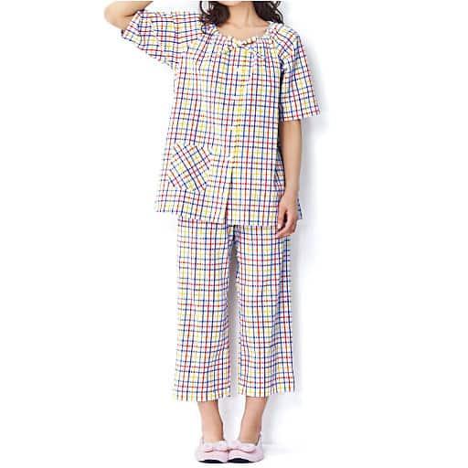 【レディース】 スモックパジャマ(綿100%)の通販