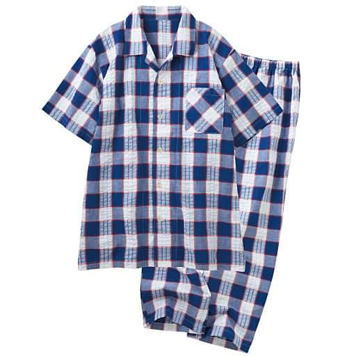 【SALE】 【レディース】 半袖シャツパジャマ(男女兼用)の通販