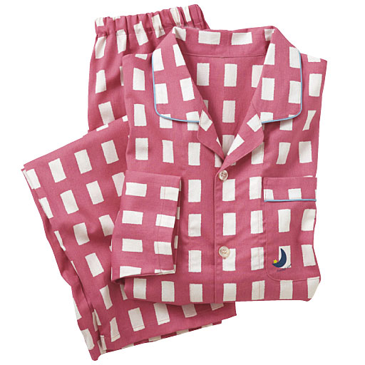 【レディース】 チェック柄シャツパジャマ(男女兼用)(綿100%)の通販