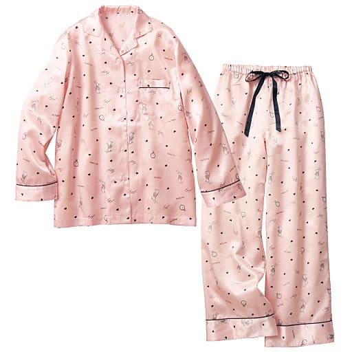 【SALE】 【レディース】 ウサギ柄のおとぎの国風シャツパジャマの通販