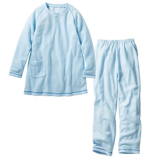 【SALE】 【レディース】 飾りステッチがアクセントのテリークロスパジャマ(無地)の通販